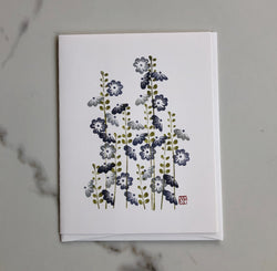 Flower Card - Hollyhock