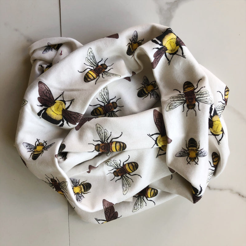 Bee Organic Cotton Infinity Scarf
