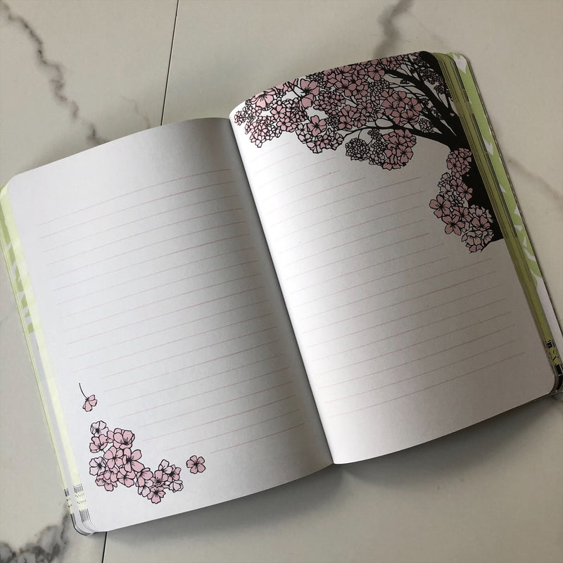 Cherry Blossom and Bird Journal