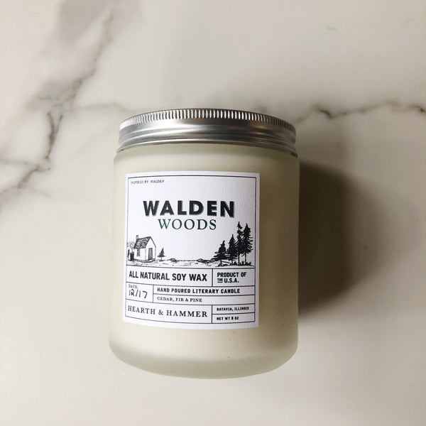 Walden Woods Literary Candle