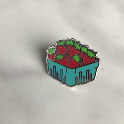 Lapel Pin - Strawberry Basket