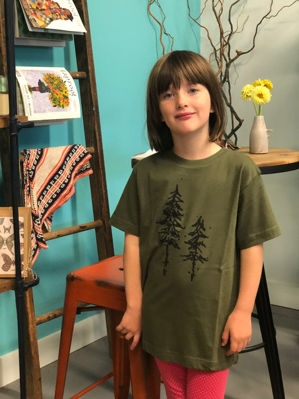 Pine Tree Tee Shirt ~ Kids