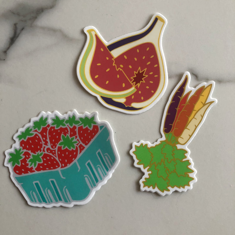 Fruits and Veggies Sticker Set