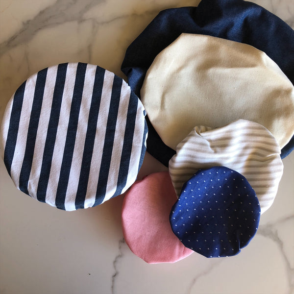Fabric Bowl Covers ~ set of 6