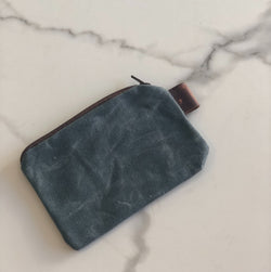 Small Wax Canvas Zipper Pouch