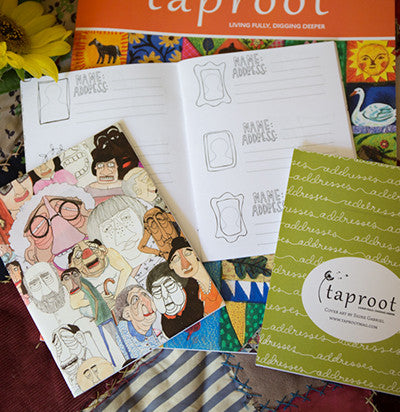 Taproot Address Book with Art by Signe Gabriel (Set of 3)