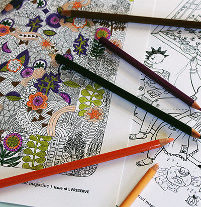PRESERVE Coloring Pages
