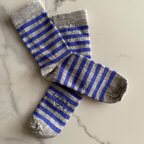 Alpaca Striped Simple Socks