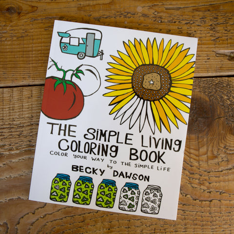 Simple Living Coloring Book