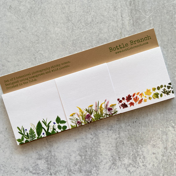 Spring, Summer, Autumn Sticky Note Set