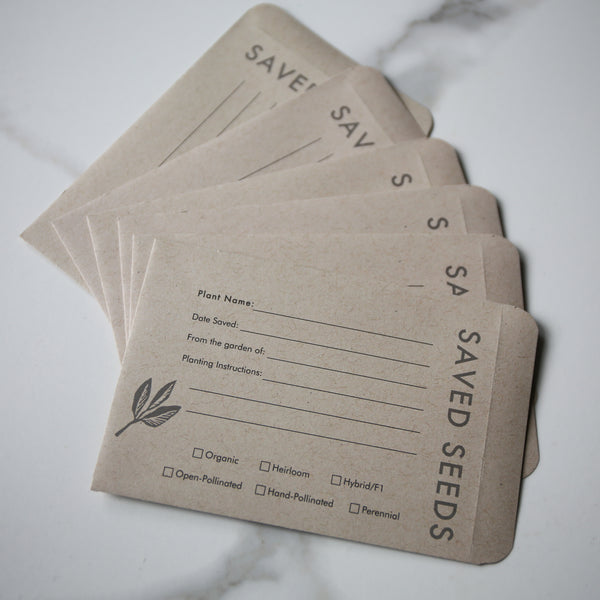 Seed Saving Envelopes (more on the way)