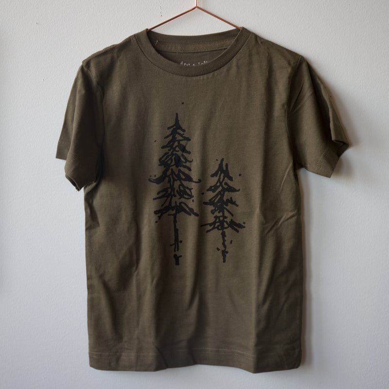 Pine Tree Tee Shirt ~ Kids S