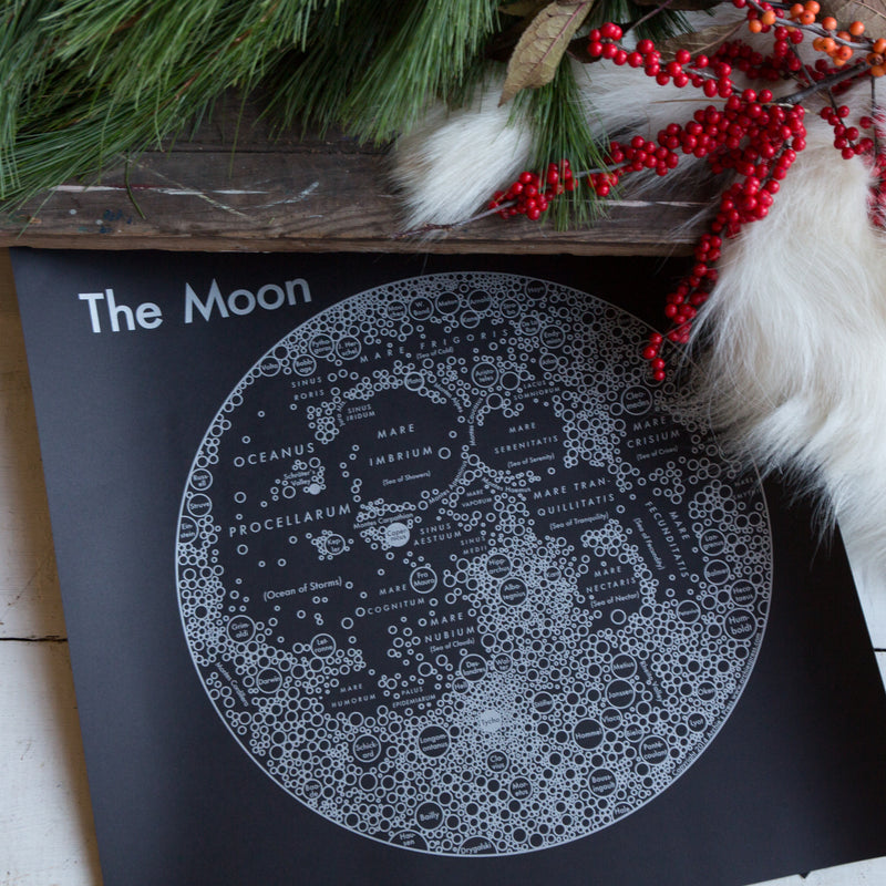 Moon Map Poster