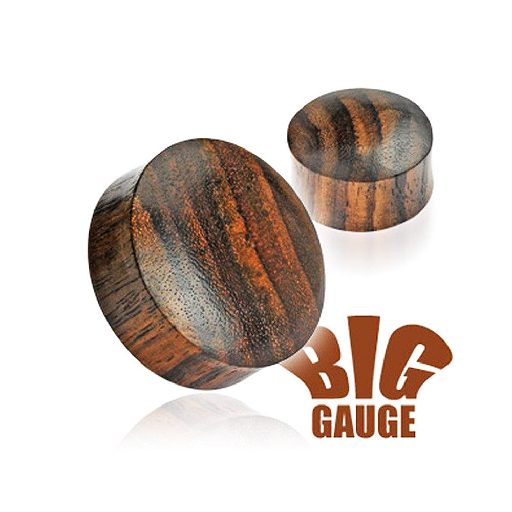 Organic Sono Wood Saddle Plug