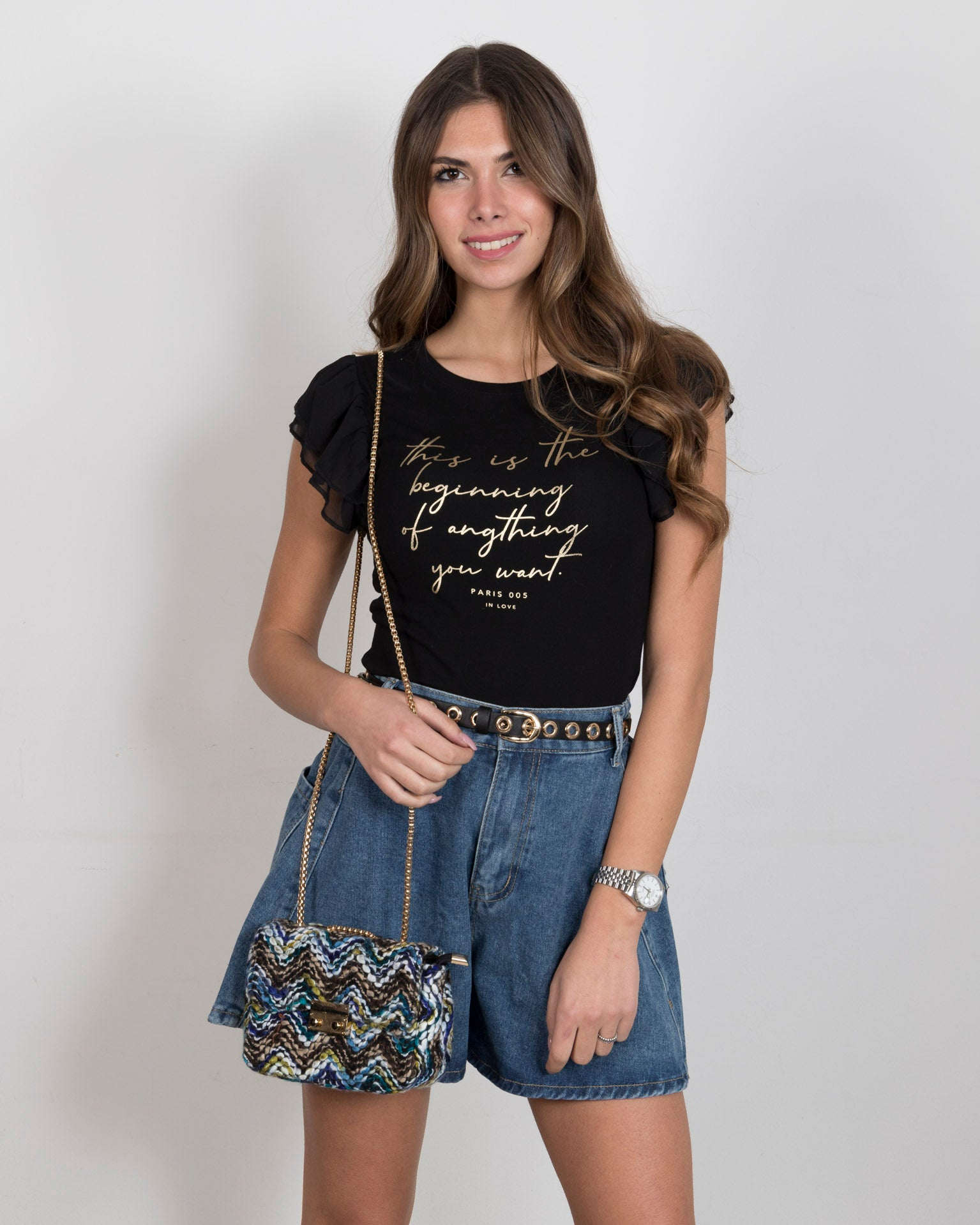LEXI - shorts denim morbidi