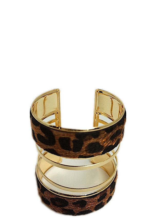 BRACCIALE RIGIDO WILD MARRONE SCURO