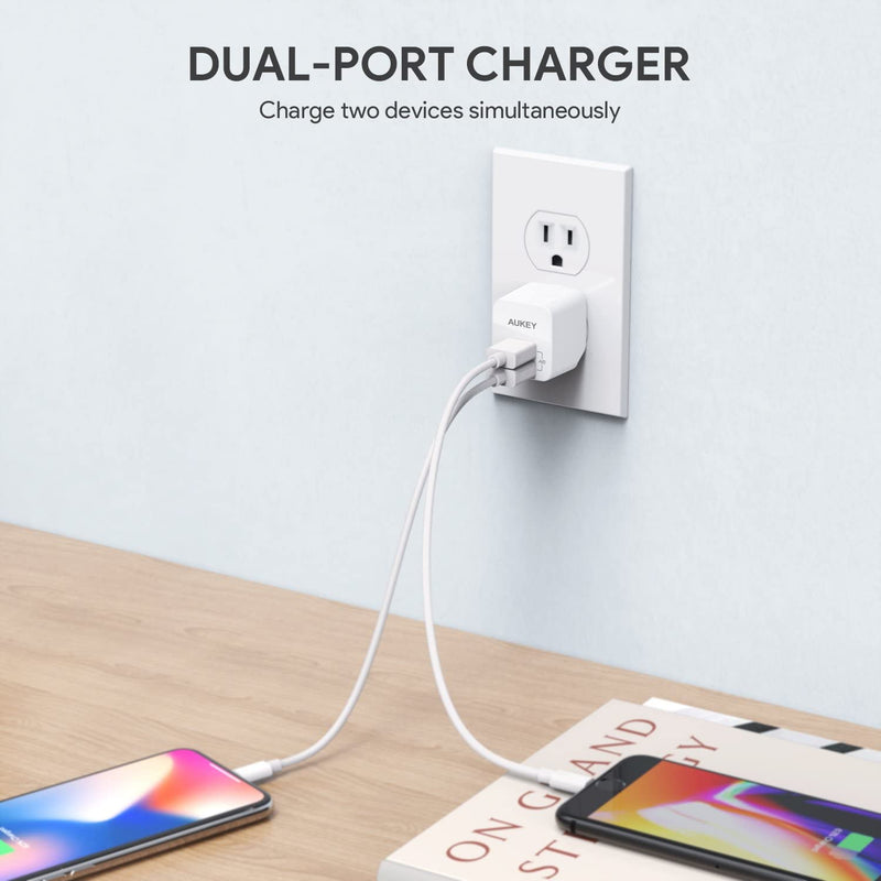 Accel Ultra Compact USB Charger Dual USB Port (2-Pack)