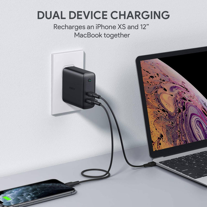 Focus Duo 60W Dual-Port PD Charger with Dynamic Detect