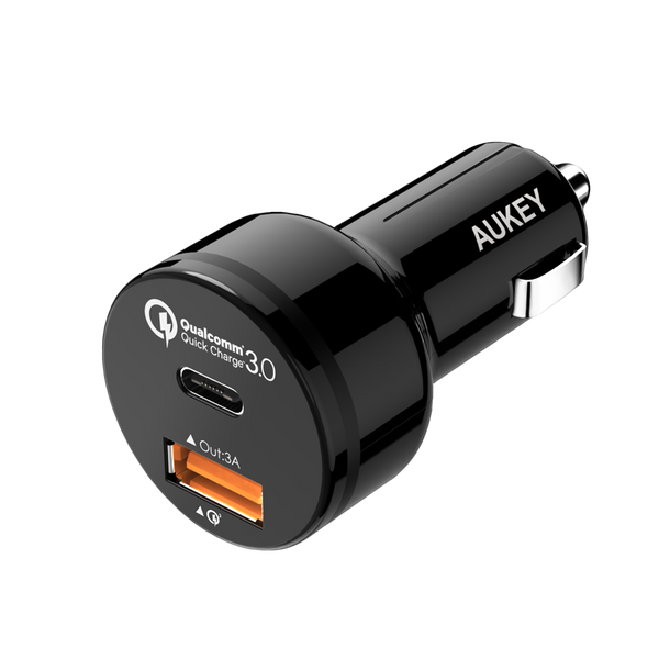 Expedition QC 33W Dual-Port Fast Car Charger with QC 3.0