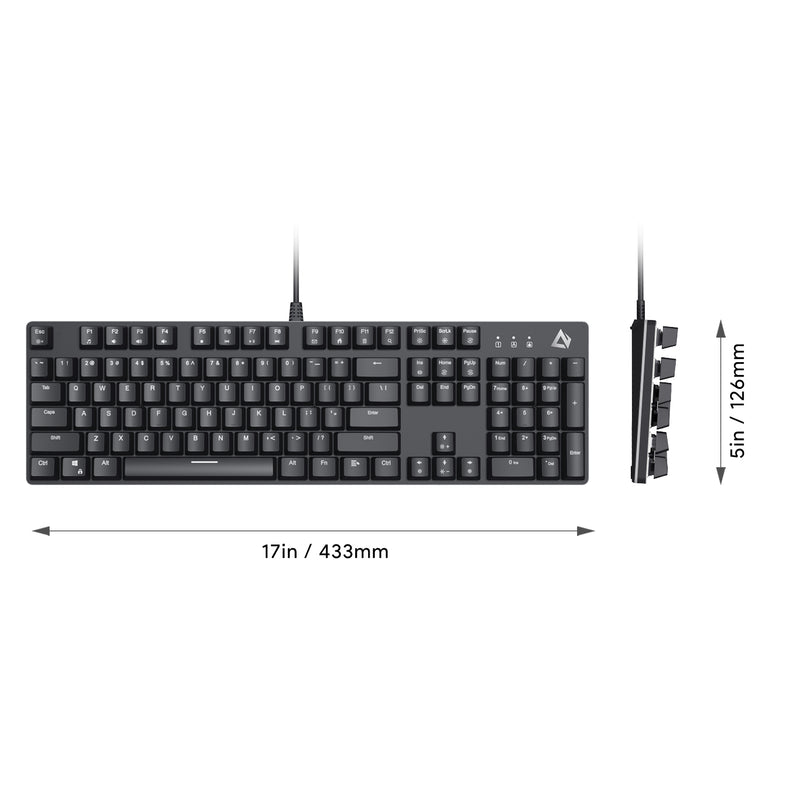 KM-G12 Mechanical Keyboard Blue Switches, 104-key with Gaming Software