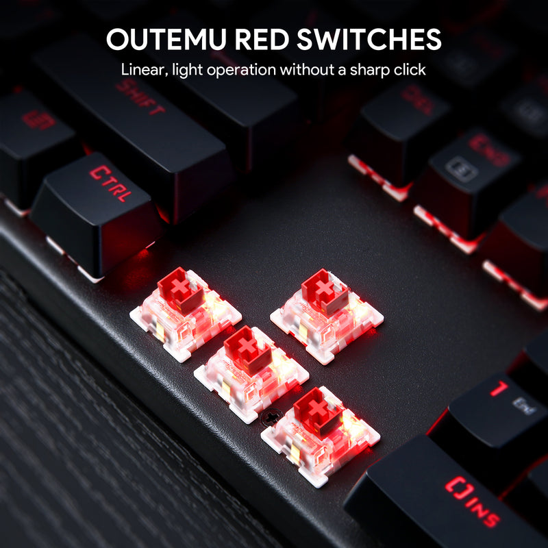 KM-G6 Gaming Keyboard - Red Switches