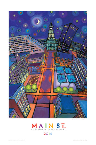 "2014 Commemorative Poster - ""Main Street Starry Night"""