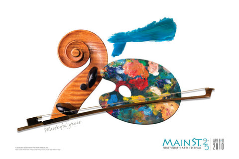 "2010 25th Year Commemorative Poster - ""25 Masterful Years"""