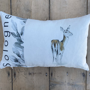 Coussin Sologne Biche Feuillage