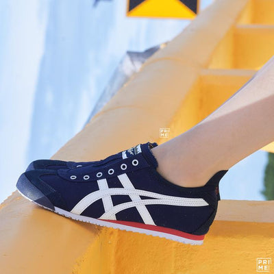 Review Onitsuka Tiger Mexico66 Slip on navy white
