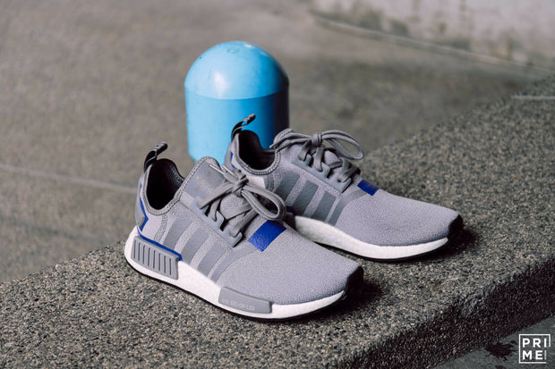 Adidas NMD R1 Grey Three / Grey Three / Active Blue (BD7742)