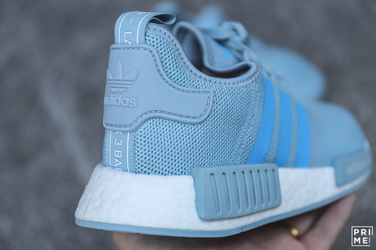 Adidas NMD R1 Ash Grey/ Shock Cyan/ Cloud White (G27688)
