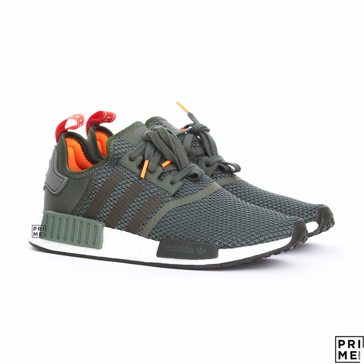 Adidas NMD R1 Base Green /Night Cargo /Solar Orange (B37620)