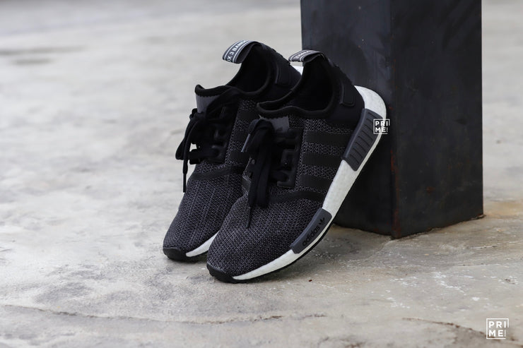 new concept 91a5d cee27 Adidas NMD R1 Core Black Grey White (B79758)