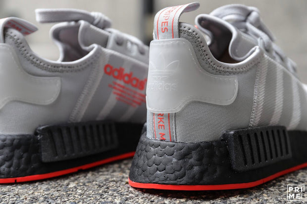 Adidas NMD R1  Grey /Solar Red (F35882)