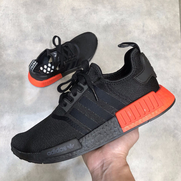 adidas nmd core black solar red