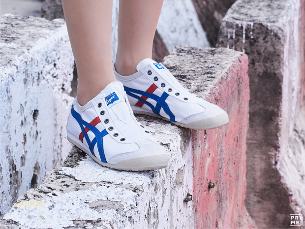 Onitsuka Tiger Mexico66 Slip on White/Tri color (D3K0N-0143)