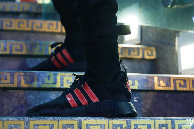 Adidas NMD R1  Core Black / Shock Red / Hi-Res Yellow(G27576)Limited