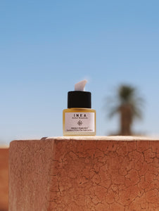 Prickly pear.fect bottle against a marrakech blue sky