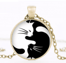 Spurzo.fr - Collier Pendentif Chat Ying & Yang - Or