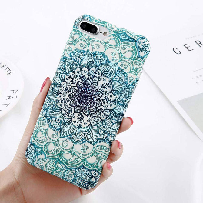 Spurzo.fr - Coque Mandala pour iPhone Bohie & Marbella - Turquoise / IPhone 6 6s