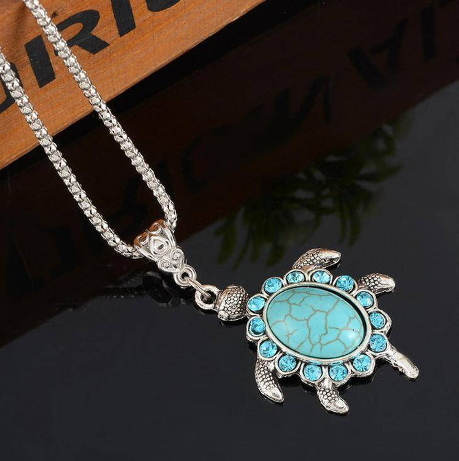 Spurzo.fr - Collier Tortue Turquoise Style Tibétain Bohie & Marbella