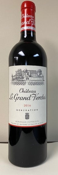 Bordeaux Superior, 2016 Generation, Le Grand Verdus