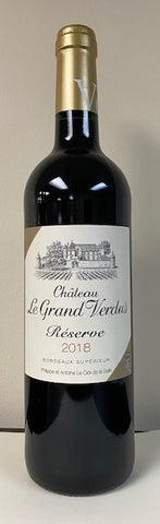 Bordeaux Superior Reserve, Rouge, 2018  Le Grand Verdus