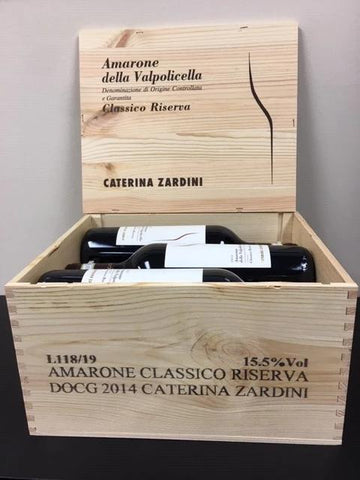 Amarone 2015 Caterina Zardini Private Reserve Selection, 95 Pts JS, 6 in wooden Box
