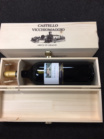 Ripa delle Mandorle, 2016, Magnum  a  Tuscan Blend by Vicchiomaggio In Wooden Box