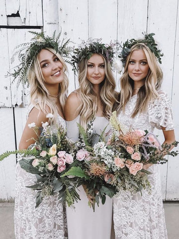 boho bridesmaid hair