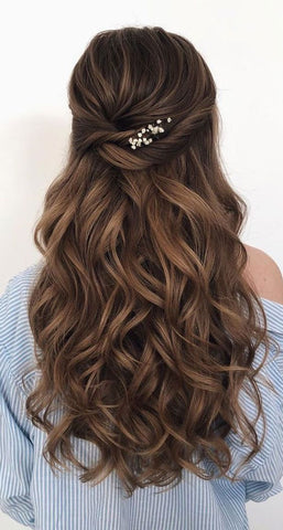 half up half down bridesmaid hair