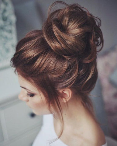 bridesmaid bun hairstyle