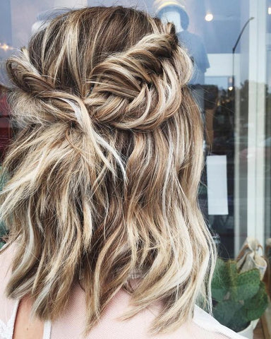 bridesmaid side braid