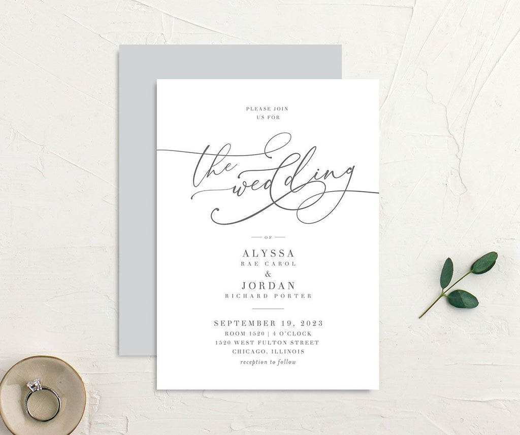 Pantone colour of the year wedding invitations